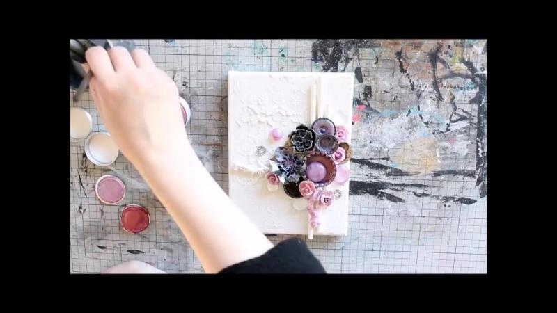 Blueberry Beauty - A Mixed-Media Canvas by Riikka Kovasin ( 720 X 960 ).mp4