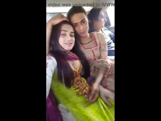 Gorgeous indian girl pressing boobs and showing cleavage -