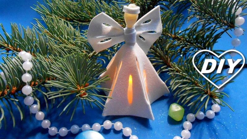 АНГЕЛ ДЛЯ НОВОГОДНЕЙ ЁЛКИ МК Christmas Angel DIY Ángel de navidad Anjo de natal Angelo di Natale