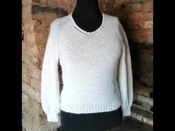 пуловерспицами реглан Пуловер из мохера с хлопком