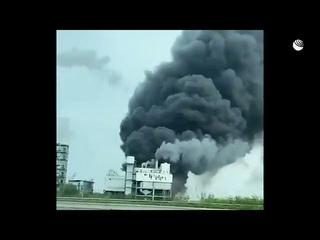 Мощный взрыв на химзаводе в немецком Леверкузене. Кадры очевидца