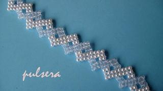 DIY - Pulsera novia de perlas y cristalitosDIY - Pearl bracelet with pearls and crystallites