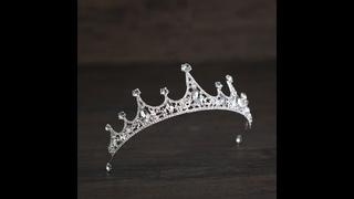 Новинка в стиле барокко, серебряный цвет, стразы, хрустальная корона, повязка на голову, свадебные