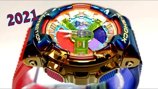 Casio G-Shock GM-110RB-2A Module 5553 watch 2021