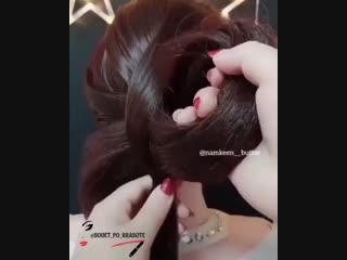 Интересный способ плести косу)