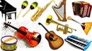 МУЗЫКАЛЬНЫЕ ИНСТРУМЕНТЫ для ДЕТЕЙ Учим названия Инструментов и их Звуки Развивающее видео