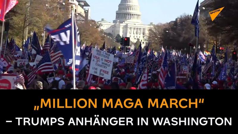 """""""Million MAGA March Trumps Anhänger legen Washington D C lahm"""