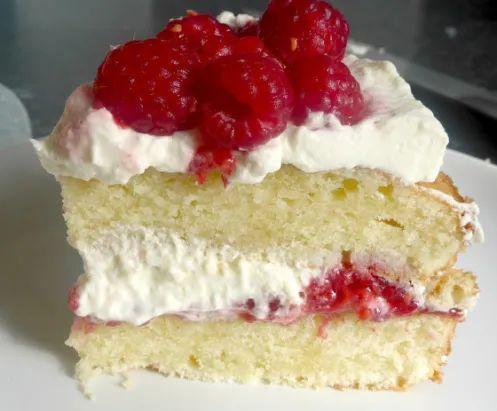 """Торт  """"Виктория"""" с малиной"""