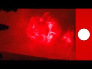 Забайкалье Большая Тура: мощные взрывы на военном складе в результате сильнейших лесных пожаров пожаров