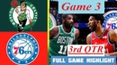 Boston Celtics vs Philadelphia 76ers Game 3 Highlights HD 3rd - QTR | NBA Playoffs 8/21/2020