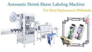 Milk Shake Powder Bottles Automatic Shrink Sleeve Labeling Machine
