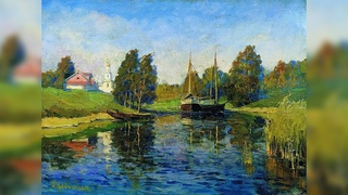 """""""Озеро. Осень"""" по мотивам И.Левитана. Мастер-класс по живописи маслом для начинающих"""