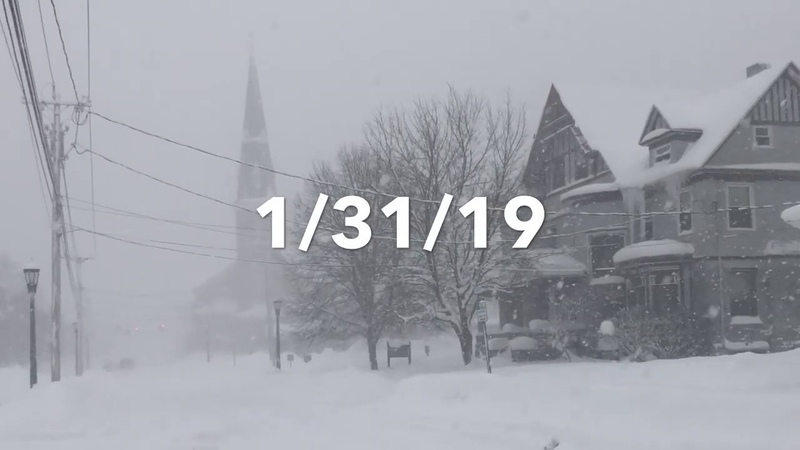 Snow Storm Blankets Watertown NY 1 31 19