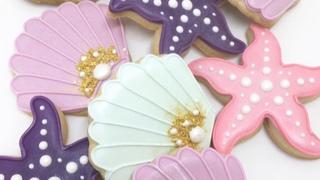 Biscoitos Decorados - Sereia, Fundo  do Mar