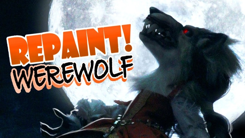 Repaint Werewolf Halloween 2020 Custom Art Doll