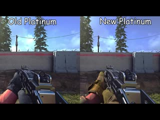 Comparing the old and new platinum camos on the smgs. modern warfare