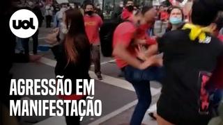 Militantes do PCO agridem manifestantes da esquerda durante ato na Avenida Paulista