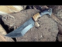 Изготовление походных ножей с автомобильными рессорами.