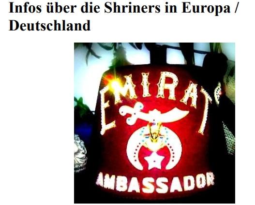 Infos über Die Shriners In Europa Deutschland Satans