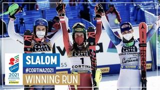 Katharina Liensberger | Gold | Women's Slalom | 2021 FIS World Alpine Ski Championships
