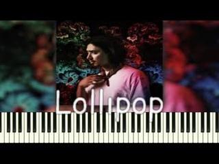 Gafur feat  JONY Lollipop  PIANO_KARAOKE | НОТЫ+MIDI