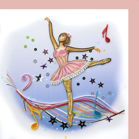 квиллинг открытки гимнастика балерины быть там