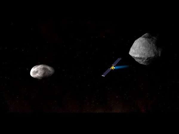 The Double Asteroid Redirection Test DART Hitting an Asteroid Head On