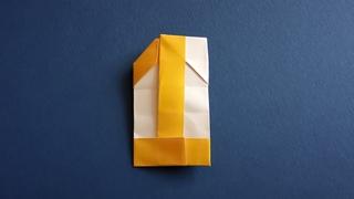 Цифра 1 оригами из бумаги 🎇 1 год каналу Артвиум! • Origami Number One