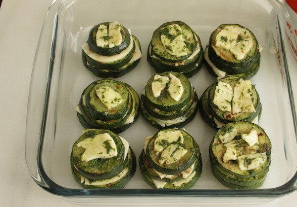 Запеченные кабачки с сыром и миндалем, изображение №13