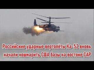 Российские ударные вертолёты Ка-52 вновь начали кошмарить американские военные базы на востоке САР