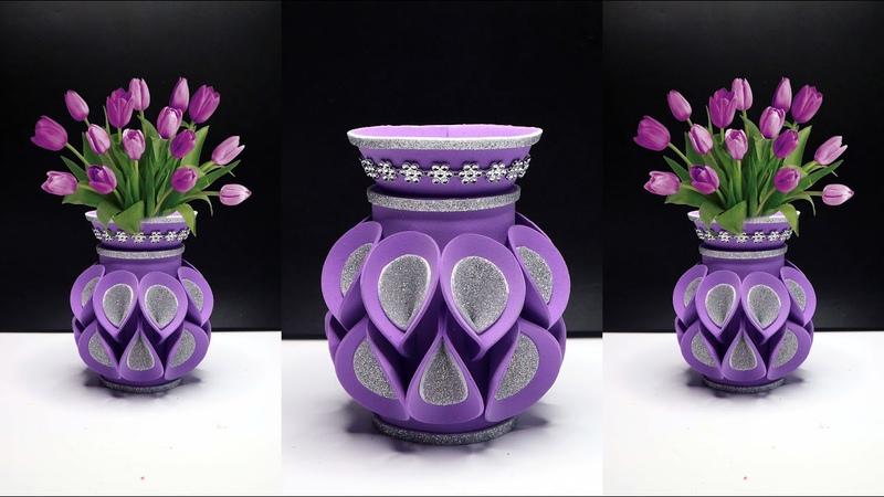 Ide Kreatif Vas bunga dari Botol Plastik bekas Air Mineral !