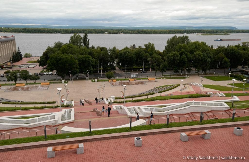 Панорама берега Волги, Самара 2020