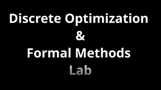 Представление лабораторий ФИТИП. МНЦ КТ: Discrete Optimization & Formal Methods Lab.