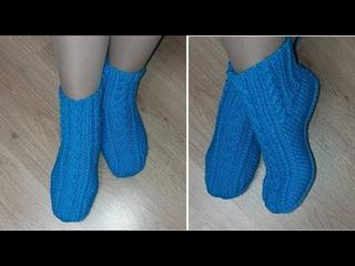 Носки сапожки КРАСИВЫЕ  ножки  Двумя спицами без шва. Стильно и тепло!