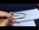 Cartier nail bracelet, diamond-encrusted, 1:1 custom