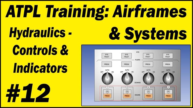 ATPL Training Airframes Systems 12 Hydraulics Controls Indicators