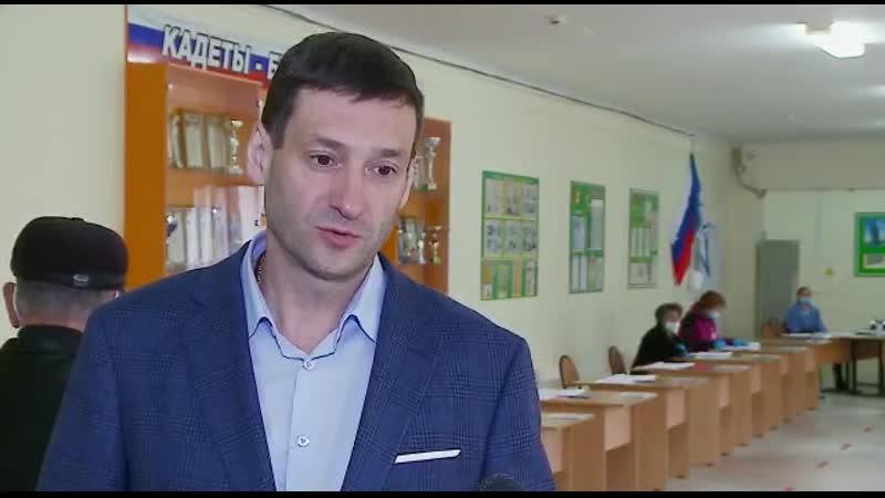 Сергей Серебренников и Константин Зайцев проголосовали на досрочных выборах губернатора Иркутской области