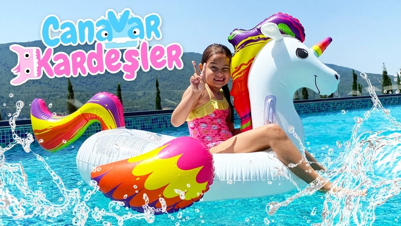 Havuz oyunu Canavar Kardeşler aquaparka gidiyorlar Tatil videosu