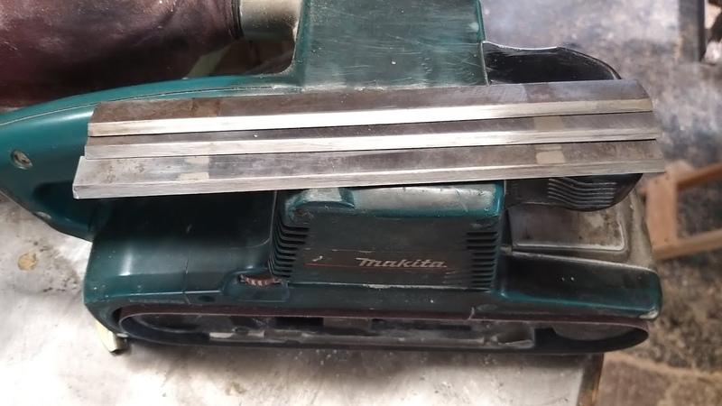 Заточка ножей фуганка на Макити 9404