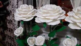 Белые розы-торшеры