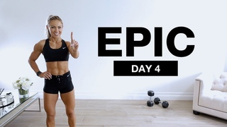 DAY 4 of EPIC   1 Hour Dumbbell Full Body Workout Core Focus