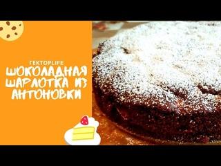 Шоколадная ШАРЛОТКА из АНТОНОВКИ / Готовим ШАРЛОТКУ / Подарок от Маши Газелистки 😇