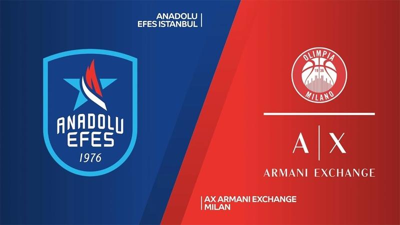 Anadolu Efes Istanbul - AX Armani Exchange Milan Highlights | EuroLeague, RS Round 19. Евролига. Обзор. Анадолу Эфес - Милан