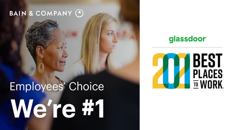 Manny Maceda Bain Company is 1 on Glassdoor's Best Places to Work list
