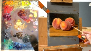 How to paint fuzzy peaches in oil - painting demonstration by Aleksey Vaynshteyn