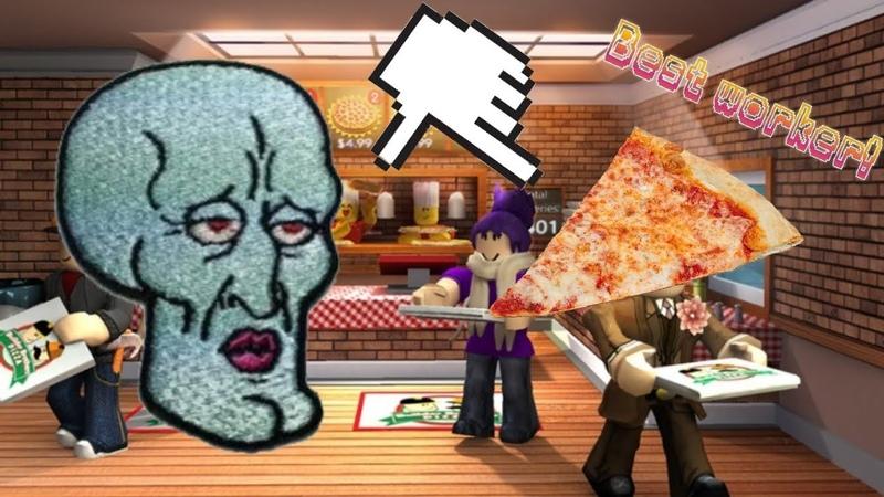 Работаю в пиццерии roblox