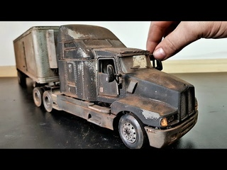 Kenworth T600 Restoration Abandoned Semi Trailer Truck