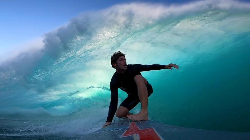 POV WORST BIG WAVE PADDLE OUT EVER INTO BIGGEST BACKSIDE BARREL IVE HAD! Action 430 Surf 1445