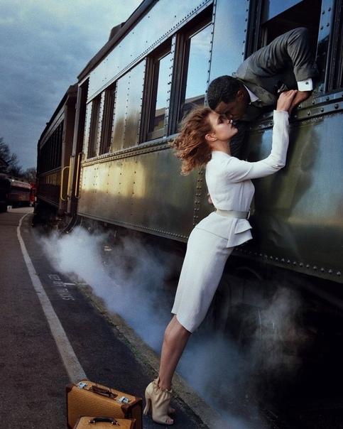 Наталья Водянова и Шон Комбс в объективе Энни Лейбовиц, американский Vogue, 2010