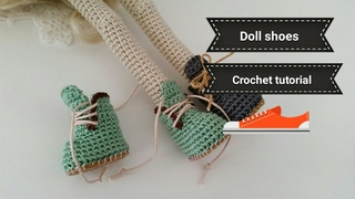 How to crochet doll winter shoes / mini booties crochet
